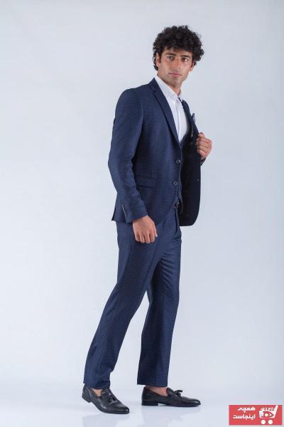 فروشگاه کت شلوار مردانه تابستانی برند ELPA SHOP رنگ لاجوردی کد ty71581027