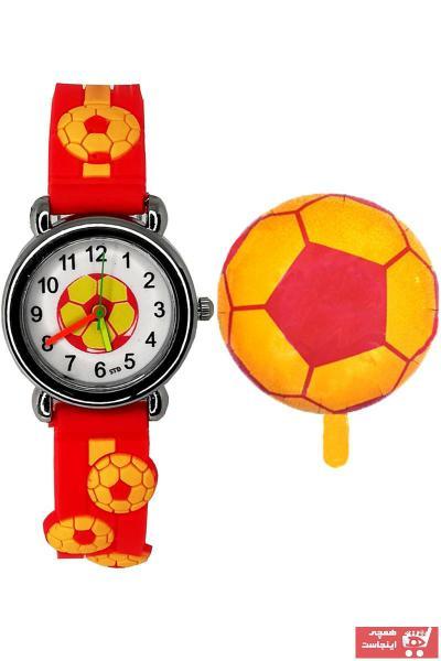 ساعت بچه گانه ساده برند sezerekspres رنگ قرمز ty73299616