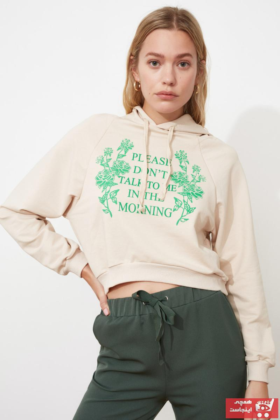 خرید ارزان سویشرت زنانه اسپرت برند TRENDYOLMİLLA رنگ نقره ای کد ty73347921