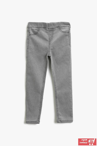 خرید ارزان شلوار جین بچه گانه دخترانه فانتزی برند Koton Kids رنگ نقره ای کد ty73637245
