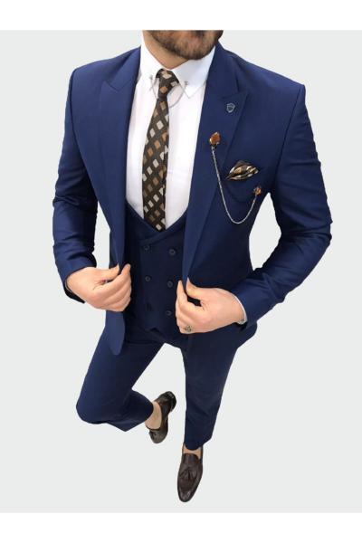 کت شلوار مردانه ترک برند PAREZ رنگ لاجوردی کد ty74325960