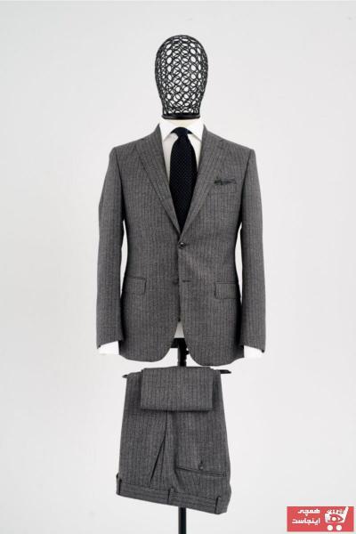 کت شلوار اصل مردانه برند Giovane Gentile رنگ نقره ای کد ty74646935