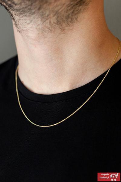 فروش انلاین گردنبند طلا مردانه مجلسی برند Cenova Kuyumculuk رنگ زرد ty75336531