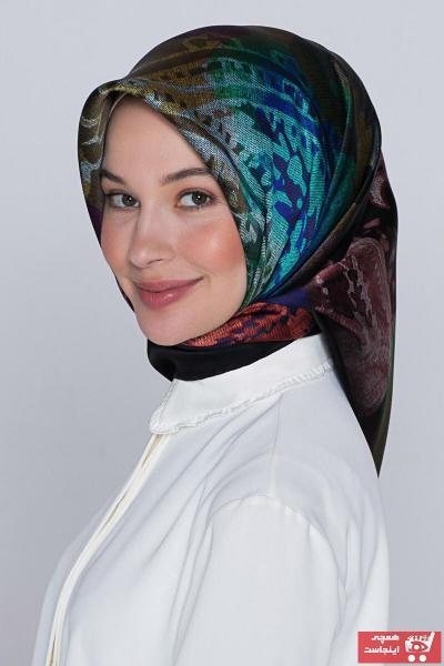 روسری زنانه مارک دار برند Armine رنگ بنفش کد ty75473547