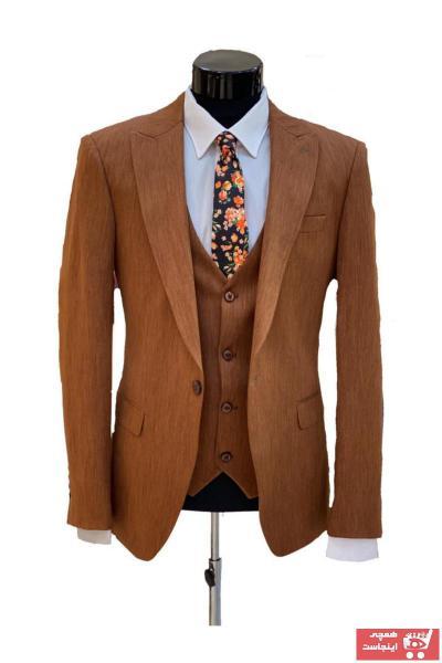 سفارش کت شلوار مردانه ارزان برند WESEN رنگ قهوه ای کد ty75558231