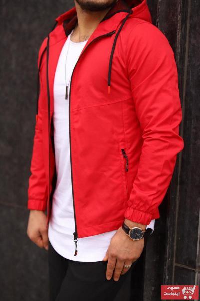 بارانی مردانه فروش برند DENSMOOD رنگ قرمز ty76009126