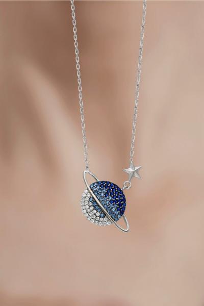 خرید انلاین گردنبند طرح دار برند takı tak silver رنگ نقره کد ty79095926