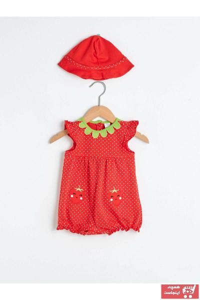 سرهمی نوزاد دخترانه خاص برند ال سی وایکیکی LC Waikiki رنگ قرمز ty79872857
