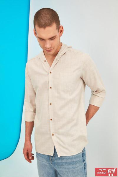 سفارش نقدی پیراهن مردانه ارزان مارک ترندیول مرد رنگ نقره ای کد ty80577767