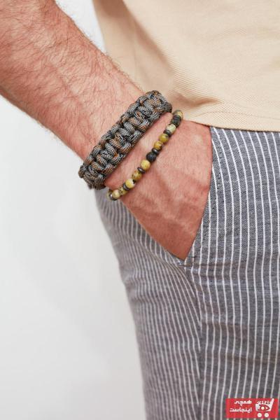 خرید نقدی دستبند ارزان مردانه برند ترندیول مرد رنگ زرد ty80786277