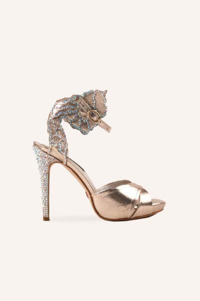خرید پستی کفش پاشنه بلند مجلسی زنانه 2021  برند MARCATELLI رنگ طلایی ty81538216