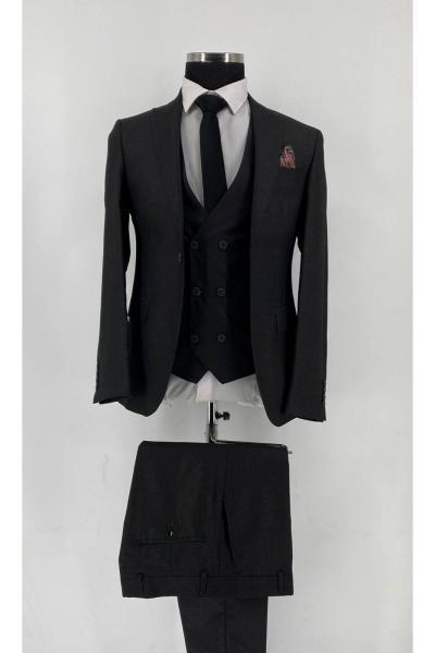 خرید پستی کت شلوار جدید برند VİZYONER رنگ مشکی کد ty81596920