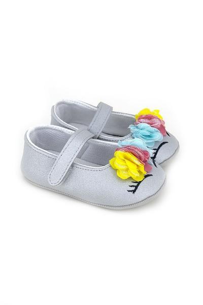 کفش تخت نوزاد دختر مجلسی برند Funny Baby رنگ نقره کد ty81746674