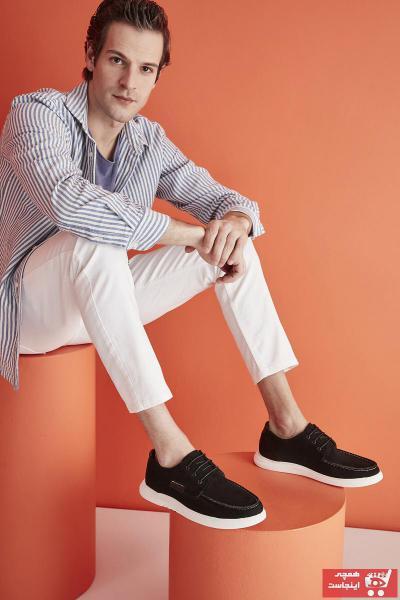 کفش کلاسیک مردانه کوتاه برند Yaya  by Hotiç رنگ مشکی کد ty83249068