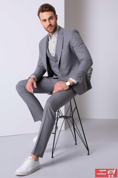خرید پستی کت شلوار اورجینال مردانه برند پیرکاردن رنگ آبی کد ty83817760
