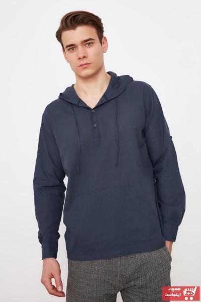 خرید غیر حضوری پیراهن از ترکیه مارک ترندیول مرد رنگ نقره ای کد ty84114529