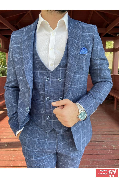 مدل کت شلوار مردانه برند Alberto Silva رنگ آبی کد ty84834489