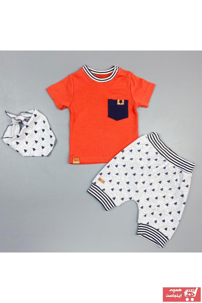 خرید اینترنتی ست لباس ست لباس نوزاد پسرانه برند Flexibaby رنگ نارنجی کد ty85585166