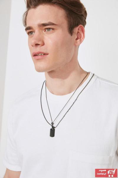 خرید انلاین گردنبند مردانه خاص مارک ترندیول مرد رنگ مشکی کد ty86282946