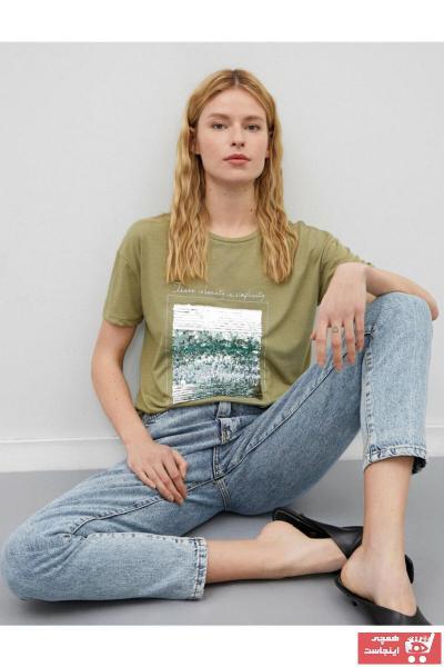 تیشرت زنانه اسپرت جدید برند کوتون رنگ سبز کد ty86382240