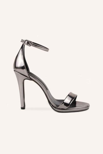 کفش پاشنه بلند مجلسی زنانه شیک برند MARCATELLI رنگ نقره ای کد ty86878011