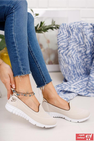 کفش تخت پاییزی دخترانه برند Feta ayakkabı رنگ بژ کد ty87512565
