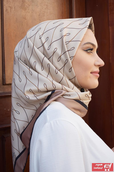 روسری زنانه مارک برند MaPolien رنگ بژ کد ty88510607