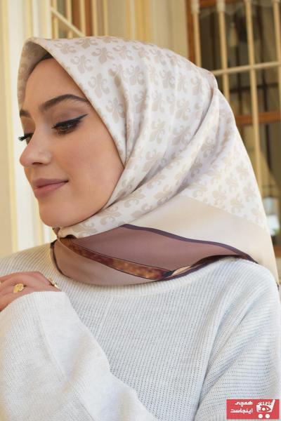 خرید روسری زنانه ست برند MaPolien رنگ قهوه ای کد ty88512437