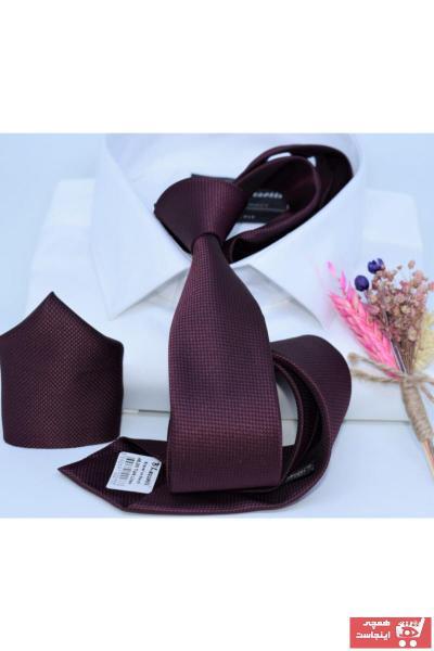 فروش کراوات اصل و جدید برند Blazzotti رنگ زرشکی ty88587889