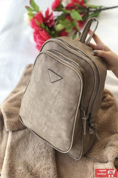 خرید اسان کوله پشتی زنانه  جدید برند Bagzone رنگ قهوه ای کد ty88848785