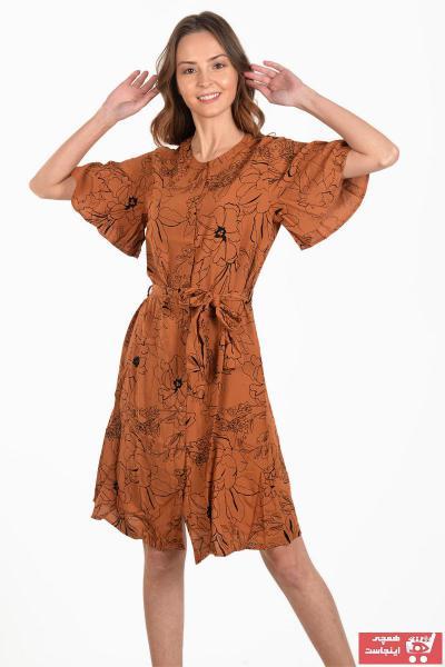 پیراهن زنانه خاص برند Selma Hanım رنگ قهوه ای کد ty89139221