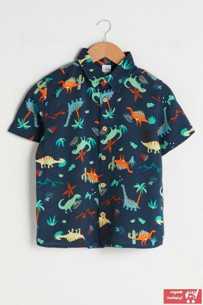 پیراهن نوزاد پسر ساده برند ال سی وایکیکی LC Waikiki رنگ لاجوردی کد ty89695678