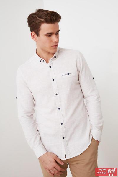 پیراهن مدل 2021 مارک ترندیول مرد رنگ بژ کد ty90411781