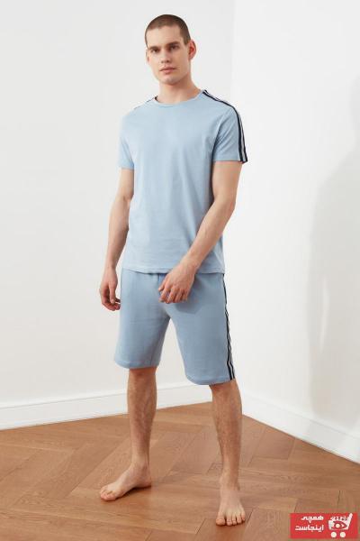 خرید انلاین ست راحتی جدید مردانه شیک مارک ترندیول مرد رنگ آبی کد ty90702704