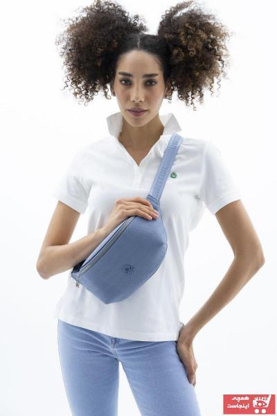 خرید اسان کیف کمری زنانه اورجینال برند United Colors of Benetton رنگ آبی کد ty91780711