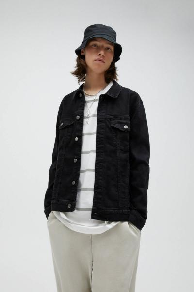 فروش اینترنتی ژاکت جین مردانه با قیمت برند Pull & Bear رنگ مشکی کد ty92377013