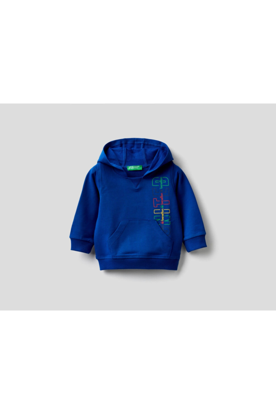 خرید نقدی سویشرت پسرانه فانتزی برند United Colors of Benetton رنگ لاجوردی کد ty92606448
