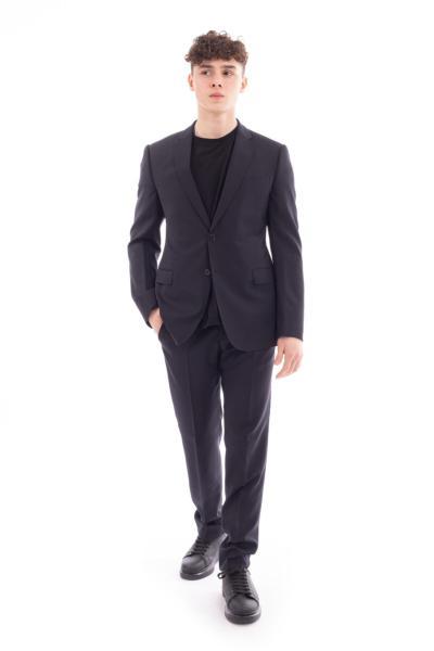 خرید انلاین کت شلوار طرح دار برند امپریو آرمانی رنگ مشکی کد ty93082914