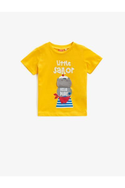 تیشرت نوزاد پسرانه با قیمت برند کوتون رنگ زرد ty93614585