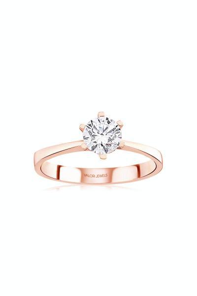 حلقه طرح دار برند Valori Jewels رنگ صورتی ty93706389