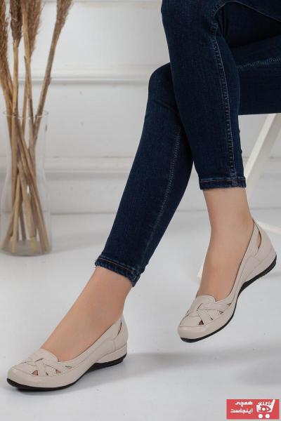کفش تخت دخترانه برند Dilimler Ayakkabı رنگ بژ کد ty93772849
