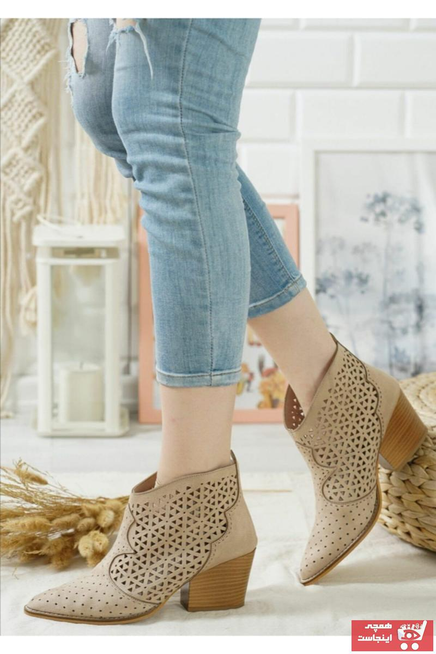 نیم بوت زنانه قیمت مناسب برند Eldora Shoes رنگ بژ کد ty94185488