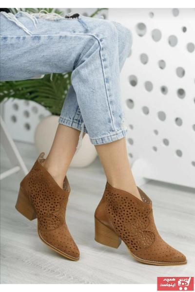 خرید نیم بوت دخترانه شیک برند Eldora Shoes رنگ قهوه ای کد ty94463573
