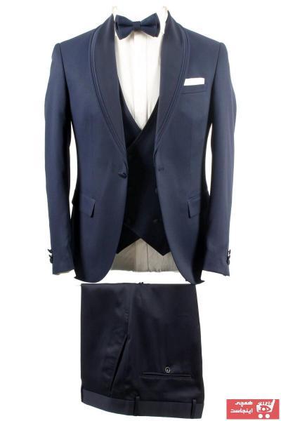 کت شلوار مردانه ارزان برند YSF Giyim رنگ لاجوردی کد ty94696846