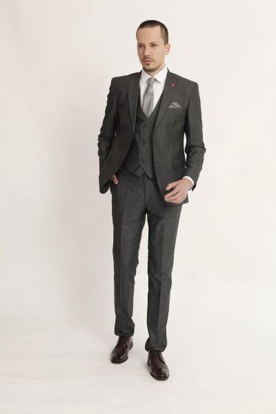 کت شلوار مردانه برند TREND&YOU رنگ نقره ای کد ty95606210