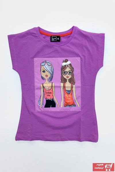 مدل تیشرت دخترانه  برند Cloise رنگ بنفش کد ty95706744