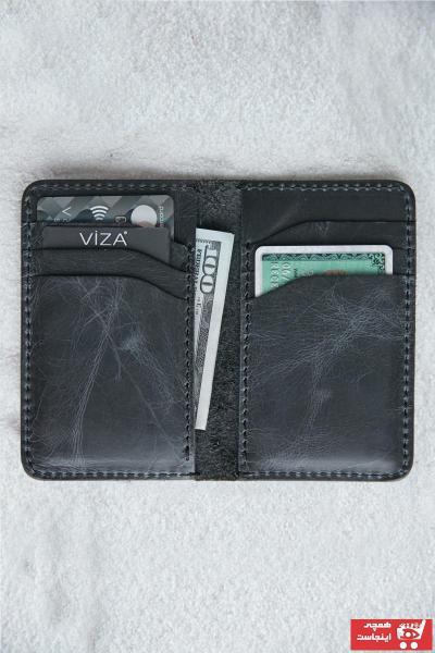 خرید انلاین کیف کارت بانکی مردانه طرح دار برند VİZA LEATHER رنگ مشکی کد ty95963530