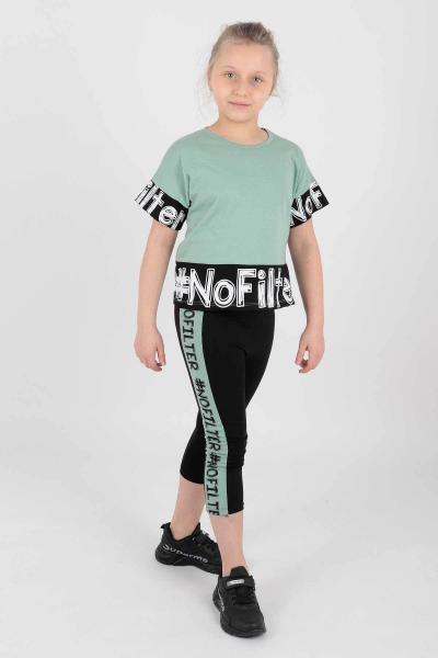 خرید انلاین ست لباس دخترانه طرح دار برند Ahenk Kids رنگ سبز کد ty96006171