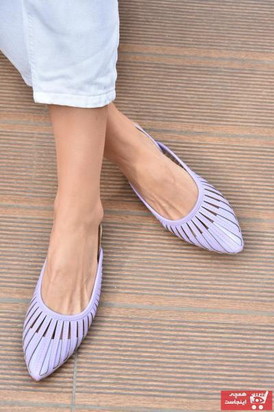 کفش بابت زنانه ترک جدید برند Fox Shoes رنگ بنفش کد ty96043019