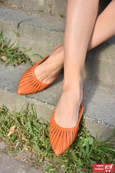 کفش بابت زنانه ساده برند Fox Shoes رنگ نارنجی کد ty96049632